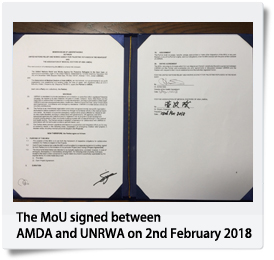 MoU Signed with UNRWA